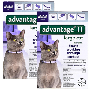 Advantage II for Cats 9-18 lbs, 12 Pack (Purple)