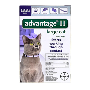 Advantage II for Cats 9-18 lbs, 6 Pack (Purple)