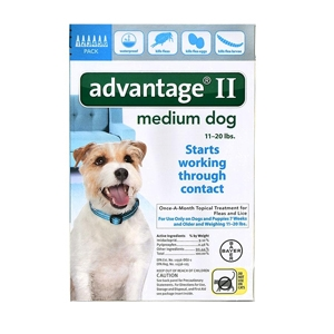 Advantage II for Dogs 11-20 lbs, 6 Pack (Teal)