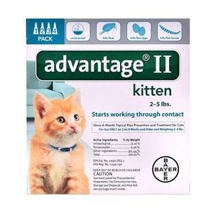 Advantage II for Kittens 1-5 lbs, 4 Pack (Turquoise)