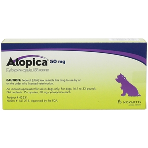 Atopica 50mg, Purple, 15 Capsules