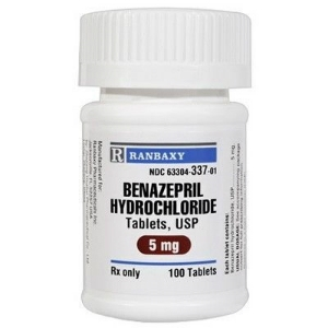 Benazepril HCL 5 mg, 100 Tablets