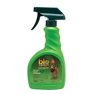 Bio Spot Flea & Tick Spray for Dogs and Puppies, 24 oz