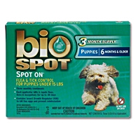 Bio Spot Spot On Flea & Tick Control for Puppies Under 15 lbs, 3 Pack