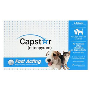 Capstar for Cats and Dogs 2-25 lbs, Blue, 6 Tablets