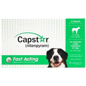 Capstar for Dogs over 25 lbs, Green, 6 Tablets