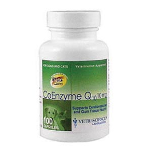 Coenzyme Q10 For Dogs and Cats, 10mg, 100 Capsules