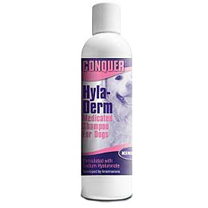 Conquer Hyla-Derm Medicated Shampoo For Dogs, 8 oz