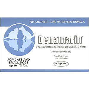 Denamarin for Dogs and Cats up to 12 lbs, 30 Tablets (Blue)