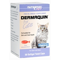 Dermaquin for Cats, 50 Softgel Twist Caps