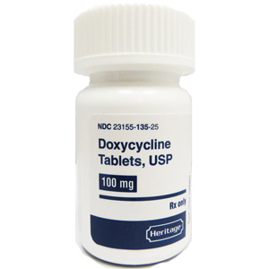 Doxycycline 100 mg, 50 Tablets