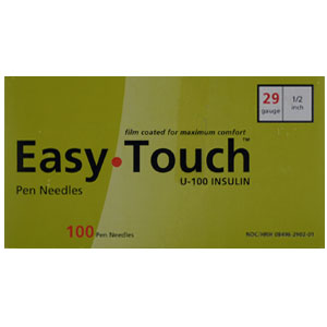 EasyTouch Pen Needles, 29 gauge x 1/2 in, 100