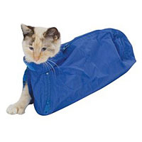 Feline Restraint Bag, 10-15 lbs, Royal Blue