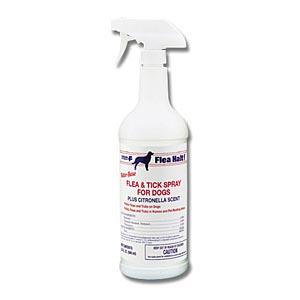 Flea-Halt Flea & Tick Spray for Dogs Plus Citronella, 32 oz