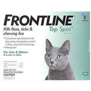 Frontline Top Spot for Cats, Green, 6 Pack