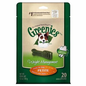Greenies Lite Treat Pack, Petite, 12 oz (20 Treats)