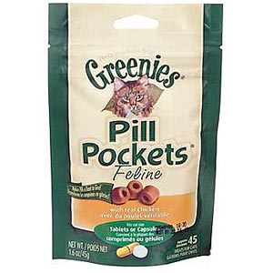 Greenies Pill Pockets for Cats Chicken Flavor, 45 ct