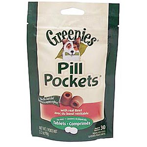 Greenies Pill Pockets for Dogs Beef Flavor, 30 Tablets