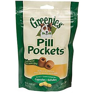 Greenies Pill Pockets for Dogs, Chicken, for Capsules, 30