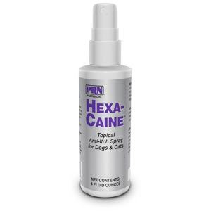 Hexa-Caine Topical Anti-itch Spray for Dogs and Cats