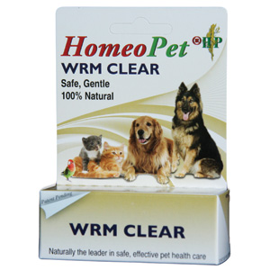 HomeoPet Wrm (Worm) Clear, 15 mL