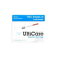 "Insulin Syringe U-40 1/2 cc 29gax1/2"" (Ulticare) 10/Package"