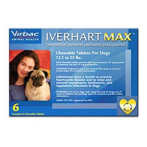 Iverhart Max for Dogs 12-25 lbs, Blue, 12 Pack