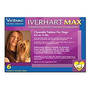 Iverhart Max for Dogs 6-12 lbs, Purple, 12 Pack