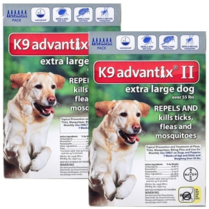 K9 Advantix II for Dogs over 55 lbs, Blue, 12 Pack