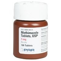 Methimazole 5 mg, 100 Tablets