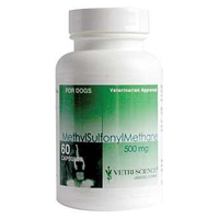 Methylsulfonylmethane (MSM) for Dogs 500 mg, 60 Capsules