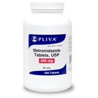 Metronidazole 500 mg, 500 Tablets