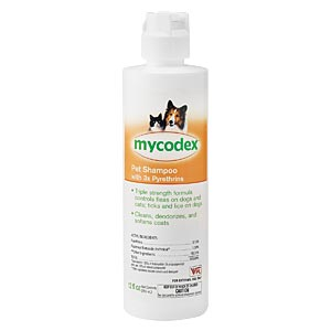 Mycodex Pet Shampoo with 3x Pyrethrins, 12 oz