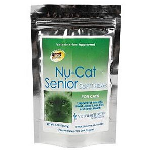 Nu-Cat SENIOR Multi Vitamin/Mineral, 120 Soft Chews