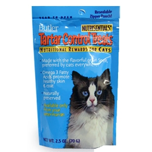 Nutrisentials Tartar Control Treats for Cats, 2.5 oz, 10 Pack