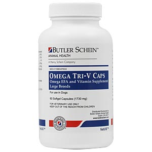Omega Tri-V Caps For Large Breeds Over 61 lbs, 60 Capsules