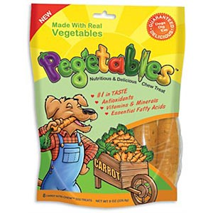 Pegetables Dental Chews, Mixed Vegetables Medium, 8 oz