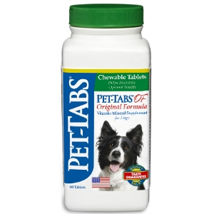Pet-Tabs OF (Original Formula) Vitamin Mineral Supplement, 60 Tablets