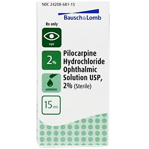Pilocarpine 2% Ophthalmic Solution, 15 mL