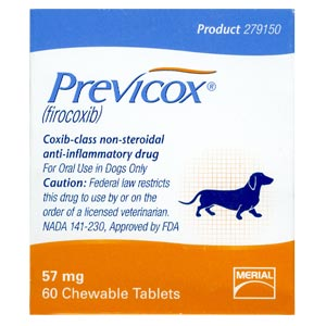 Previcox 57 mg, 60 Tablets (Firocoxib)