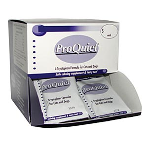 ProQuiet Calming Supplement for Cats and Dogs, Packet of  7 Chewable Tablets