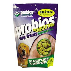 Probios Dog Treats, Digestion and Support, 1 lb Pouch