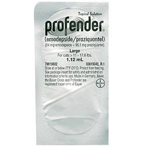 Profender for Large Cats and Kittens 11-17.6 lbs, 1.12 mL Tube