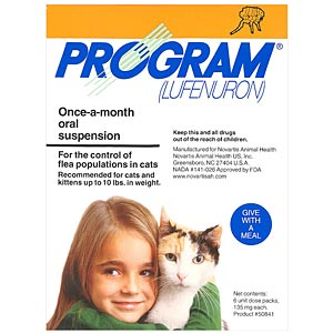 Program for Cats up to 10 lbs, Orange, Oral Suspension 12 Pack