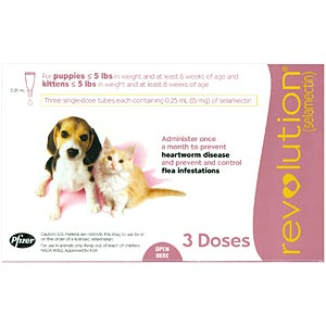 Revolution for Puppies and Kittens under 5 lbs, Pink, 3 Pack