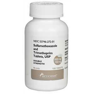 SMZ-TMP DS (Sulfamethoxazole, Trimethoprim DS) 960 mg, 100 Tablets