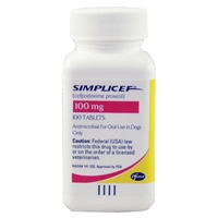 Simplicef 100 mg, 100 Tablets