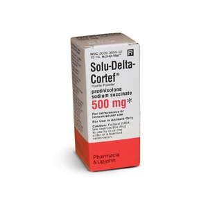 Solu-Delta Cortef 500mg, 10 mL