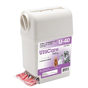 UltiCare VetRx U-40 3/10 cc, 29 ga. Insulin Syringe Dispenser
