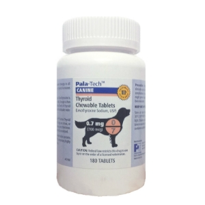 Pala-Tech Canine Thyroid Chewable Tablets, 0.7mg, 180 Count